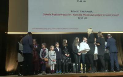 Gala podsumowująca Małopolski Konkurs Odblaskowa Szkoła.