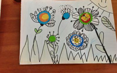 Wiosenne kolaże klasy 2